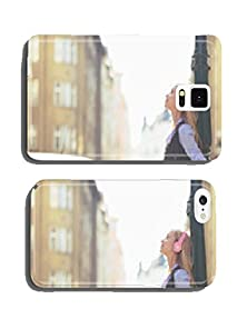 buy Relaxed Young Woman Listening Music In Headphones In The City Cell Phone Cover Case Iphone5