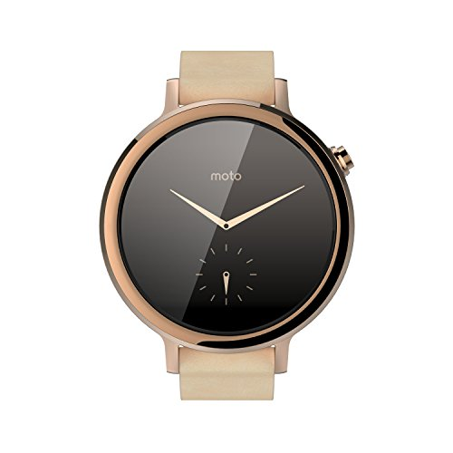 Motorola Moto 360 (2nd Gen.) - Womens 42mm, Rose Gold with Blush Leather (Thing 1 And 2 Accesories compare prices)