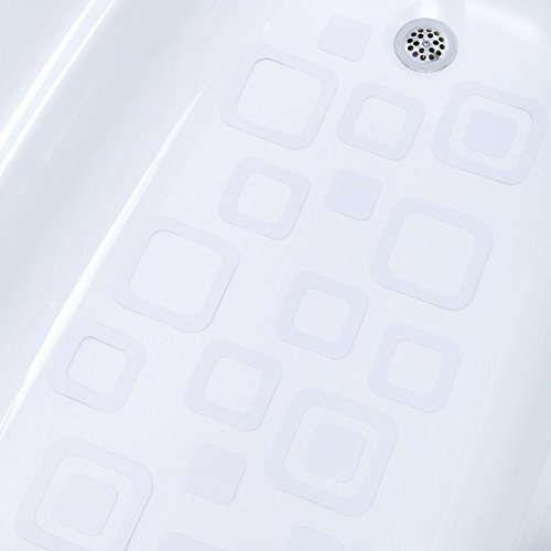 Adhesive Square Bath Treads – Clear