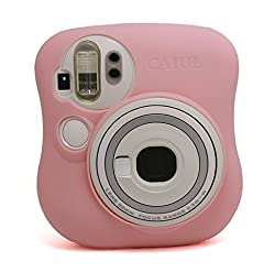 CAIUL Fashion Camera Case For Fujinfilm Instax Mini 25, Silica Gel Material, Pink