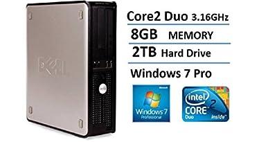 VAR7802 Dell Optiplex 780 SFF Desktop Business Computer PC (Intel Dual-Core Processor 8GB