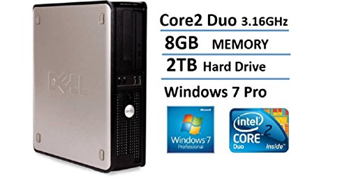 2016 Dell Optiplex 780 SFF Desktop Business Computer PC (Intel Dual-Core 3.16GHz, 8GB DDR3 Memory, 2TB HDD, DVD, Windows 7 Pro 64 Bit) (Certified Refurbished)