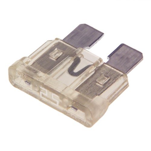 25 AMP STANDARD CAR BLADE FUSE PACK OF 50