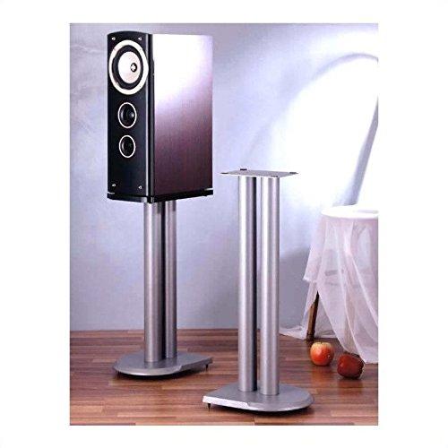 VTI UF Series Speaker Stands Pair in Grey Silver - 24