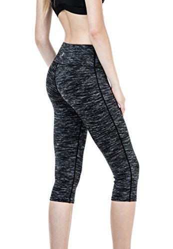 Tesla Women's Yoga Capri Leggings w Hidden Pocket YP05-SDC_Medium j-RAL