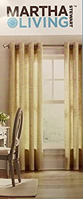 Yellow Magnolia Diamond Sky Grommet Curtain - 50 in. W x 84 in. L