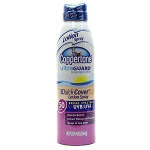Coppertone Ultraguard SPF#50 Quick Cover Spray Lotion 6 oz.