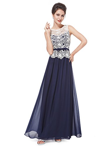 Ever Pretty Womens Semi Formal Long Evening Party Dress 16 Us Sapphire Blue