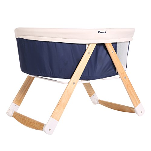 cahome-infant-travel-crib-cot-multifunctional-cradle-portable-sleeper-bassinet-blue