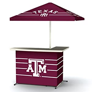 NCAA Texas A&M Aggies Wheeled Portable Bag Travel L-Shape Umbrella Basic Bar by Best of Times