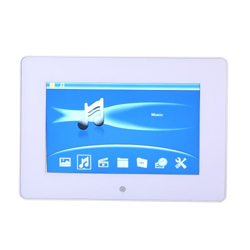 Koolertron 4:3 Widescreen 10 /7/8/12.1/14 Inch Lcd Digital Photo Frame Video Player Music Player Hd 1024*768 High Resolution Sd/Mmc/Ms - Usb Slots As Christmas Gifts (White, 7 Inch)