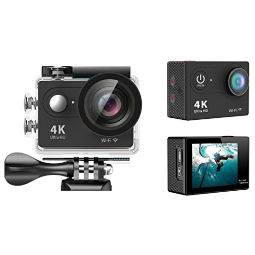 Sport Camera, TONSEE Waterproof H9 Ultra HD 4K WiFi 2.0 Inch Sport Camera Video Camcorder - Black (High Speed Camera 5000 Fps compare prices)