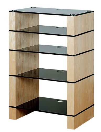 Cheap BLOK STAX DeLuxe 500 Five Shelf Ash Hifi Audio Stand & AV TV Furniture Rack Unit (B008AHJ7L8)