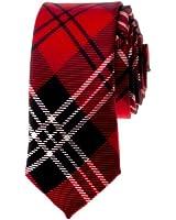 "TopTie Unisex New Fashion Black and Red Plaid Skinny 2"" inch Necktie"