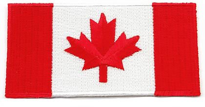 Canada Flag Embroidered Patch Canadian Maple Leaf Iron-On National Emblem