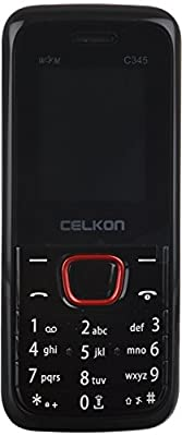 Celkon C345 Dual Sim Basic Mobile With 1.3 Mp Camera (Black And Red)