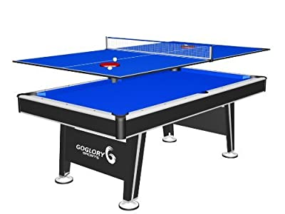 GoGlory 2-in-1 Billiard Table with Tennis Top, 84-Inch