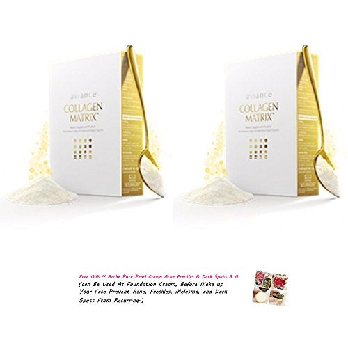 2-Packs-Aviance-Collagen-Matrix-Pure-Collagen-From-Fish-100-317-Oz-Best-Seller-of-Thailand-Get-Free-Tomato-Facial-Mask-Free-Gift-Tao-Kae-Noi-Big-Sheet-4g-Classic-Flavour