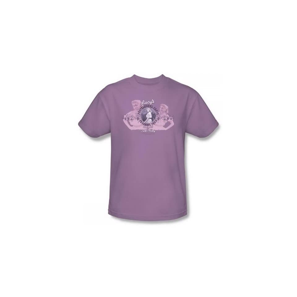 I Love Lucy Grape Crushing Lilac Adult Shirt LB179 AT Clothing