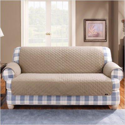 Picture of Sure Fit Cotton Duck Furniture Friend Loveseat Pet Throw in Linen (B004EMQ0LI) (Sofas & Loveseats)