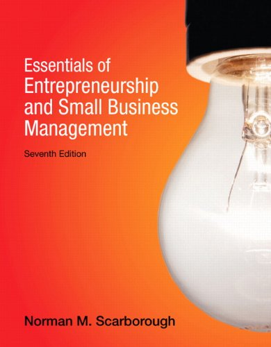Essentials of Entrepreneurship and Small Business