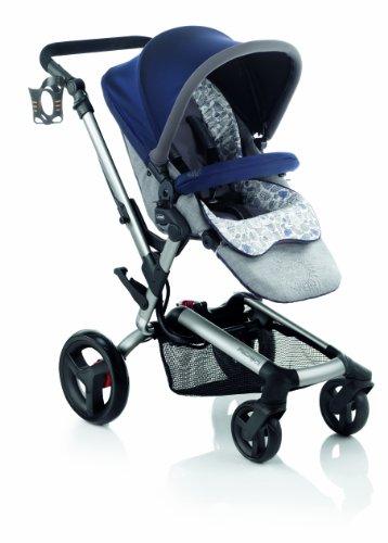 Jane Rider Anodized Aluminum Stroller - Blue Moon