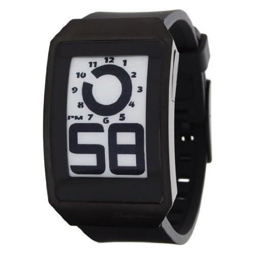 Phosphor (フォスファー) ユニセックス 男女兼用 DH04 Digital Hour E-INK Curved Black Ion-Plated Polyurethane Band Watch メンズ 男性用 腕時計 ウォッチ(並行輸入)