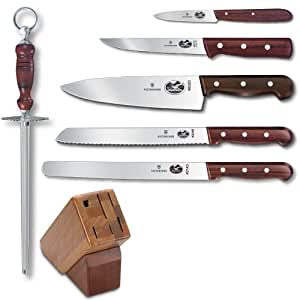 Victorinox 7-Piece Knife Set with Block, Rosewood