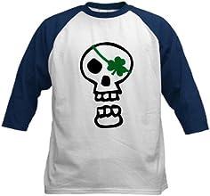 CafePress Kids Baseball Jersey - St Patricks Pirate Skull Kids Baseball Jersey