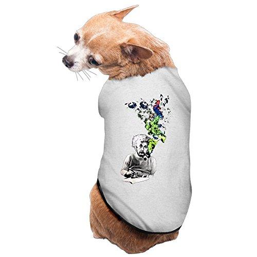 Albert Einstein Smoking Cozy Puppy Dog Coat