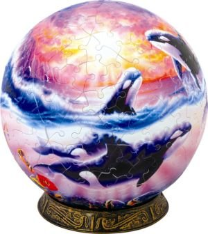 Cheap John N Hansen Unicorn Enterprises A1522_6 Orca Sunset 6 Inch Puzzle Sphere 240 pc puzzle (B00133WH0E)