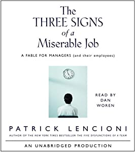"Cover of ""The Three Signs of a Miserable ..."