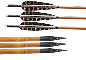 Buffalo 12pcs Bamboo Shaft Archery Hunting Arrows Fletching With Pheasant Feathers... by Buffalo