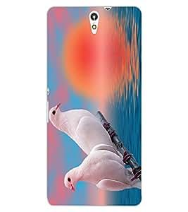ColourCraft Love Birds Design Back Case Cover for SONY XPERIA C5 E5553 / E5506