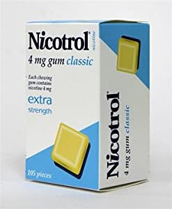 6 Boxes Nicotrol Nicotine Gum 4mg Original Classic 630 Pieces