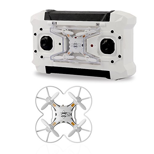 TEC.BEAN Mini Pocket Drone 4CH 6 Axis Gyro RC Micro Quadcopter with 3D Flip, Headless Mode, One Key Return Nano Copters RTF Mode 2 (WHITE)