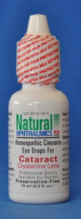 Natural Ophthalmics - Cataract Eye Drops with Cineraria