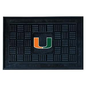 Buy FANMATS NCAA University of Miami Hurricanes Vinyl Door Mat by Fanmats
