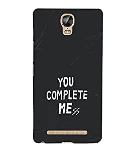 Love Quote 3D Hard Polycarbonate Designer Back Case Cover for Gionee Marathon M5 Plus