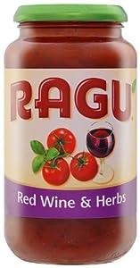 Ragu Red Wine and Herbs Tomato Sauce 500 g (Pack of 6)