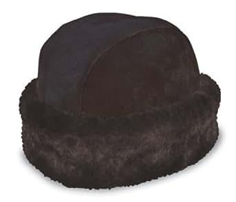 Minnetonka Russian Sheepskin Hat,Black Sheepskin,S US