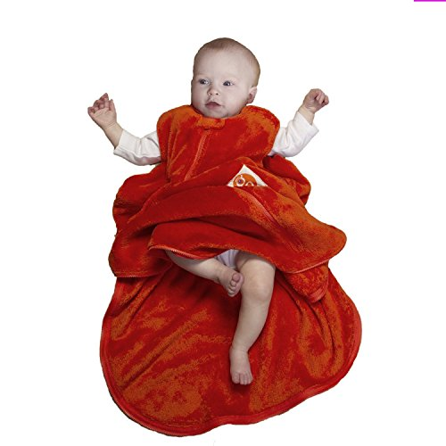 Gunamuna Fleece Gunapod Wearable Baby Sleepsack, Carrot , Medium