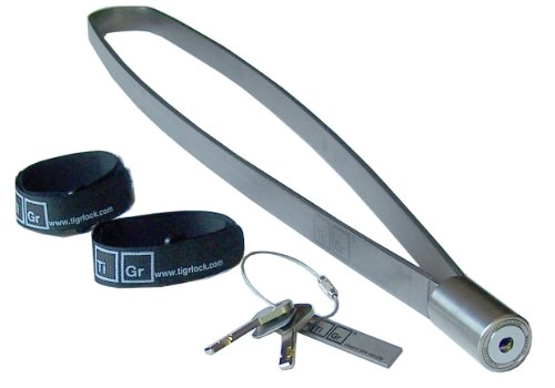 TiGr Lock - titanium bicycle lock package with 0.75