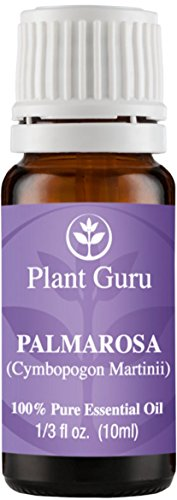 Palmarosa Essential Oil. 10 ml. 100% Pure, Undiluted, Therapeutic Grade.