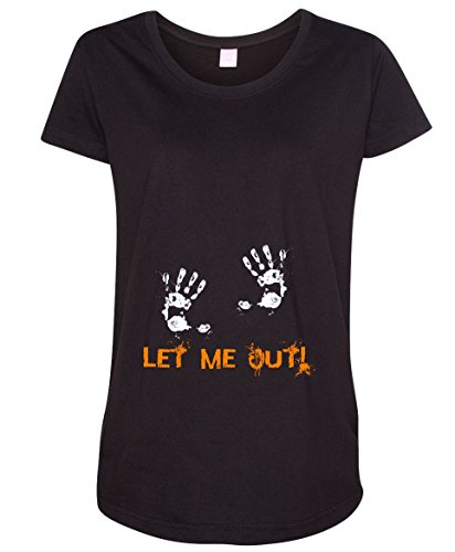 Let Me Out Handprint Halloween Baby Women's Maternity T-Shirt