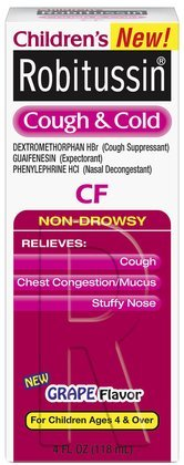 Robitussin CF childrens cough and cold relief syrup - 4 Oz
