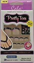 Cala Pretty Toes Black French W/ Design 88224