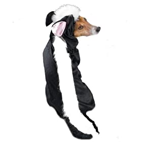 Casual Canine Lil' Stinker Dog Costume, X-Small (fits lengths up to 8'), Black/White