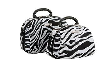 Rockland Luggage Rockland 2 Piece Cosmetic Set, Zebra, One Size