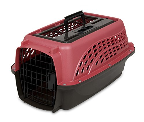 Petmate Two Door Top Load 19-Inch Pet Kennel, Pearl Honey Rose and Coffee Ground Bottom